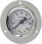 Manometer für Pumpe ø 52 mm 0÷16 Bar