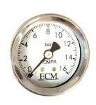 ECM Manometer für E61 Gruppen M6 Skala 0-16bar